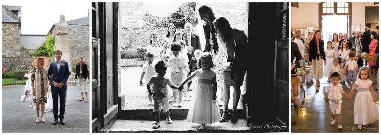 mariage- entrée église - lise trement photographe- saint briac sur mer